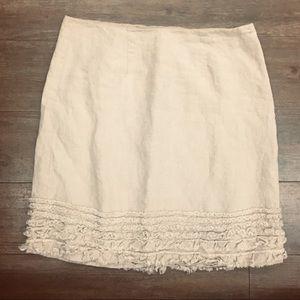Tommy Bahama linen skirt w/ frayed bottom design 8